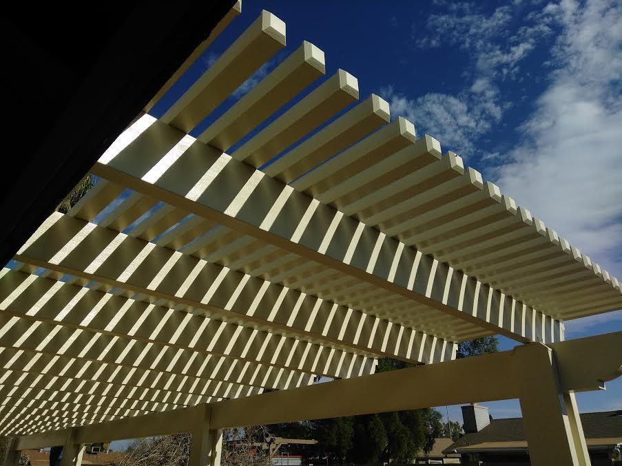 Open lattice Pergola